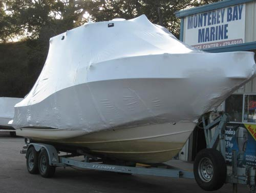 wrapped boat